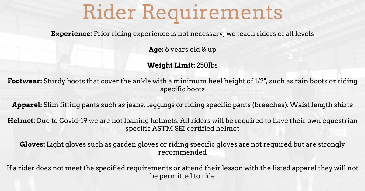 Rider Requirements (1)